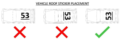 Car Number Placement